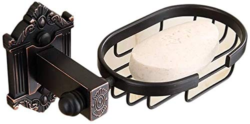 Suge Solid Brass Soap Dispenser Organizer Basket, Soap Sponge Holder, Towel Rail Rack Soap Dish Holder for Shower with Drain Wall Mounted, Best for Bathroom and Kitchen Sink