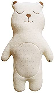 Organic Cotton Baby First Doll (No Dyeing Natural Organic Cotton) … (Sleeping Baby Bear)
