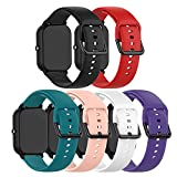 Bands Compatible with Willful SW020 SW021 SW025 Band Soft Silicone Waterproof Adjustable Sport Watch Strap Replacement Wristbands for Willful ID205 ID205L ID205S Smartwatch Band Accessories