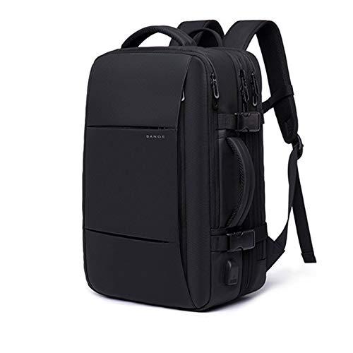 BBZZ Erweiterbarer Rucksack für Männer, geeignet für 15,6-Zoll-Laptop, wasserdichter Rucksack für Geschäfts- und Geschäftsreisen geeignet