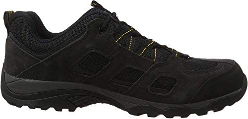 Jack Wolfskin Herren Vojo Hike 2 Low M Walking-Schuh, Black/Burly Yellow Xt, 43 EU
