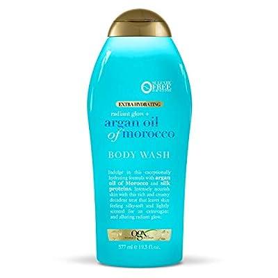 OGX Radiant Glow Argan Oil Of Morocco Extra Hydrating Body Wash, 19.5 Oz