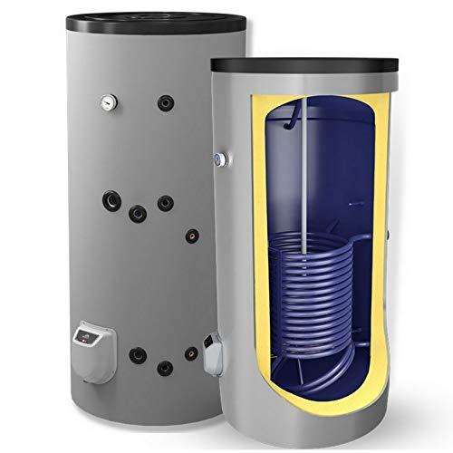 Kombispeicher kombinierter Warmwasserspeicher Standspeicher Boiler mit 1 Wärmetauscherin der Größe 200 L Liter und 3 kW Elektroheizstab