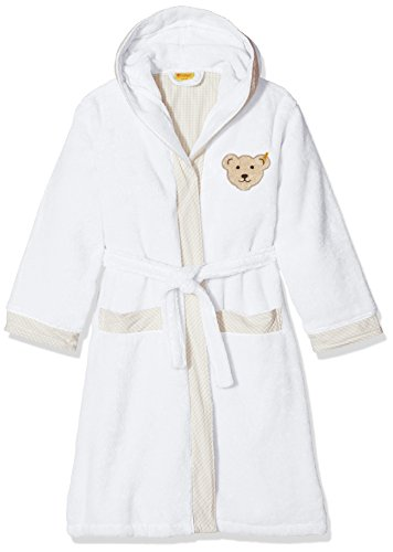 Steiff Unisex 2907 Bademantel, Weiß (Bright White 1000), 146/152