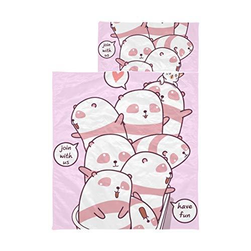Saco de dormir para niños Panda Friends Bañera Alfombrilla para siesta para niños para la escuela Alfombrilla para siesta de...
