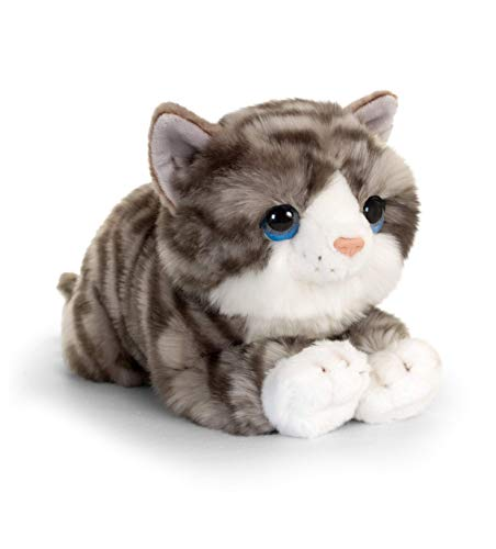 Keel Toys SC2646 Signature Cuddle - Gatito (32 cm), Color Gris