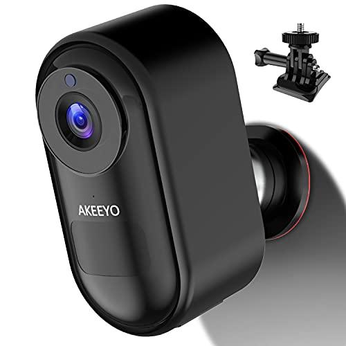 防犯カメラ AKEEYO 2021最新型 日本語音声ガイド 監視カメラ 屋内 屋外対応 wifi 1080P 140° 超広角 ネットワークカメラ 磁石 GOPROスタンド付き 両面テープ 完全無線 ネジ止め不要 工事不要 ワイヤレス 見守りカメラ ペットカメラ ベビーモニター IP67防塵防水 双方向通話 8000mAh高容量電池 USB ソーラーパネル充電可能 省エネルギー 長時間待機 赤外線暗視 夜間撮影 PIR人感センサー 動体検知 iOS Android対応 日本語アプリ警報 32GB microSDカード付属 日本語説明書 12ヶ月安心保証