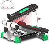 DPPAN Máquina de Step Swing, Stepper Fitness con Pantalla LCD Mini Stepper Portable para Oficina,Green