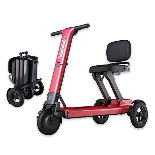 N/Z Life Equipment Ligero Li con batería Power Mobility Scooters Easy Travel Silla de Ruedas eléctrica Scooter multiterreno para Adultos Rojo