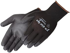 Liberty Glove & Safety P-Grip Ultra-Thin Polyurethane Palm Coated Glove with 13-Gauge Nylon/Polyester Shell, Medium, Black (Pack of 12)