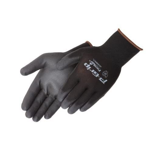 12 Pair Liberty P-Grip Grey Polyurethane Palm SP4639G