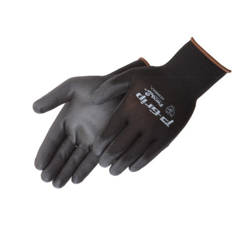 Liberty P-Grip Ultra-Thin Polyurethane Palm Coated Glove with 13-Gauge Nylon/Polyester Shell, Medium, Black (Pack of 12)