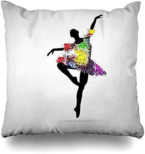 LisaArticles kussensloop, vrouw mooie vliegen model pirouette ballet proberen zwart meisje danser ontwerp panty mensen sport recreatie decoratieve kussenslopen