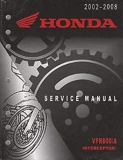 2002-2008 HONDA MOTORCYCLE VFR800/A INTERCEPTOR SERVICE MANUAL (682)