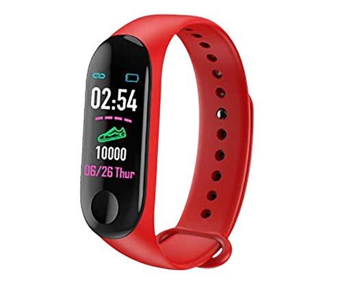 Sport Smart Band Watch   Reloj inteligente deportivo   Waterproof IP67 contra sudor, ideal para actividades deportivas   Seguimiento de actividad diaria   Quema de calorías   Frecuencia cardiaca   Recordatorio Inteligente   Modelo: Rojo.