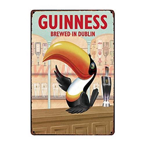 shovv Cartel de Chapa metálica Carteles de Chapa Vintage Cartel De Pared Guinness Cerveza Pintura Regalo Craft Bar Pub Decor-WA_2031_30 * 20Cm