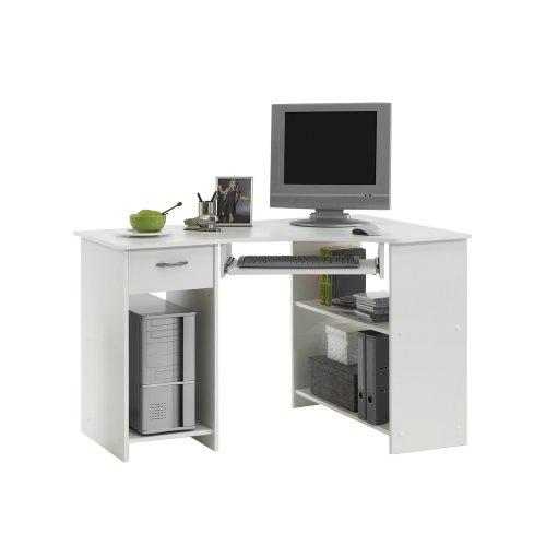FMD Möbel 350-001 Computertisch Felix 1 (B/H/T) 118.0 x 76.0 x 77.0 cm, weiß