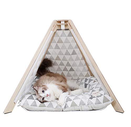Pet Nest Kennelpet Hondenhok Kennel Wasbare Tent Puppy Kat Binnen Buiten Draagbaar Conisch Tent Mat 70X70X56 Cm