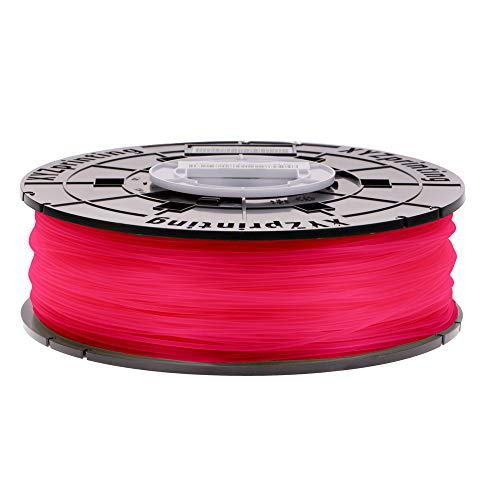 XYZprinting PLA Filament, 1.75 mm, 600 g NFC Spool, Clear Red, RFPLCXEU02A