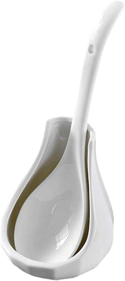 Kitchenware shipfree White Ceramic Soup Household Luxury Spoon Kit Ladles