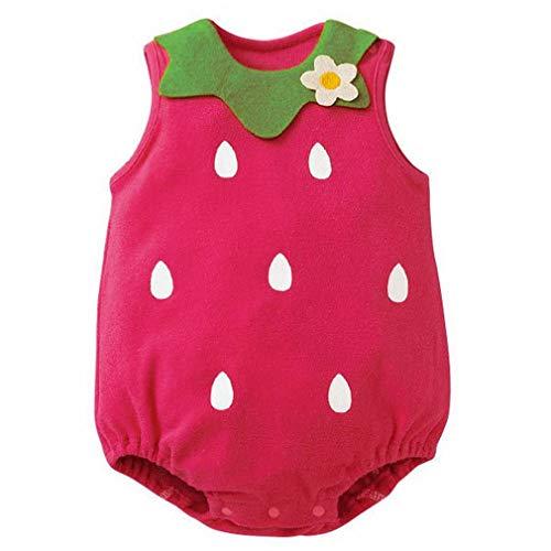 YiyiLai YiyiLai In-Outdoor Kind Neugeborene Junge Mädchen Kleidung Set Outfit Babykleidung Strampler Bodysuit Playsuit 80 Rot