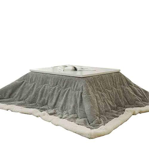 Kotatsu Mesa Calefactora De Almacenamiento Plegable Mesa Calefactora De Mesa De Centro Tatami con Ventana Mesa Calefactora De Montaje Interior For El Hogar (Color : Gray, Size : 75 * 75cm)