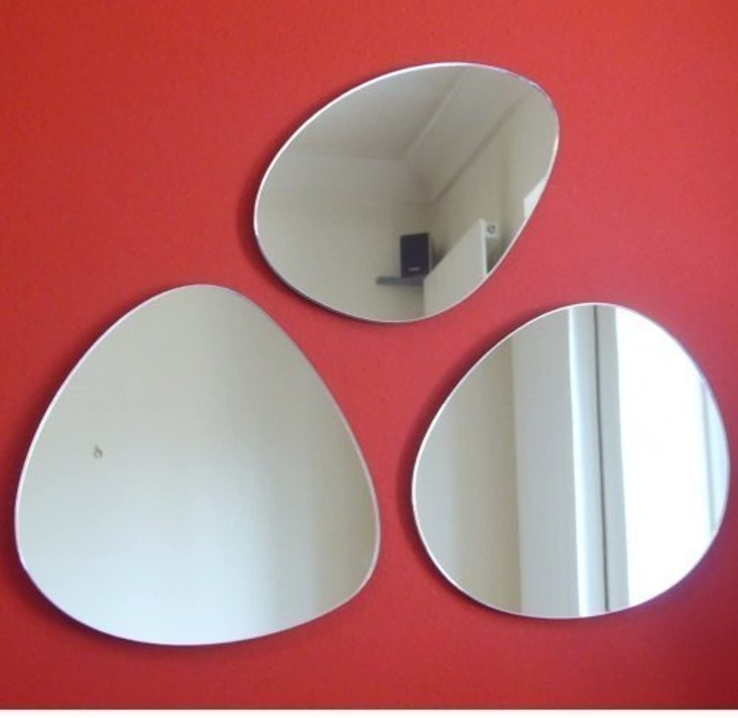 35cm x 3 Group of Pebbles Mirrors (Wall Space, 70cm x 70cm)