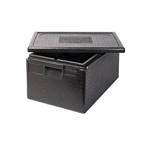 Thermo Future Box GN 1/1 Premium Thermobox Kühlbox, Transportbox Warmhaltebox und Isolierbox mit Deckel,46 Liter 60 x 40 Thermobox,Thermobox aus EPP (expandiertes Polypropylen)