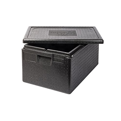 Thermo Future Box Box GN 1/1 Premium-257 mm Transport-und Isolierbox, EPP (expandiertes Polypropylen), Schwarz, 60 x 40 x 32 cm