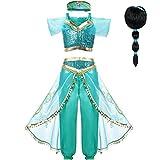 2020 película disfraz de Aladdin disfraz de princesa Jasmine disfraz de Cosplay para mujeres...
