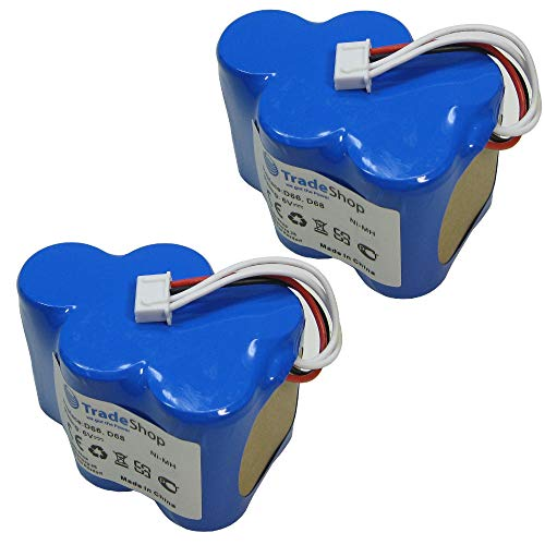 2x Trade-Shop Premium Ni-Mh Akku, 6V / 4500mAh / 27Wh für Ecovacs Deebot D73 D73n D76 D62 D62s D63 D65 D66 D68 ersetzt LP43SC3300P5 945-0005