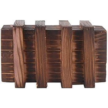 LEORX Caja mágica Brain Teaser dos mágicos madera cajones secretos ...