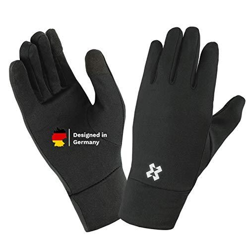 HYXE dünne und leichte Unterzieh Handschuhe Damen und Herren mit Touchscreen Funktion Winter Sport Gloves Laufen Unterziehen Handschuhe Skifahren Snowboarden Innenhandschuhe Unterzieher