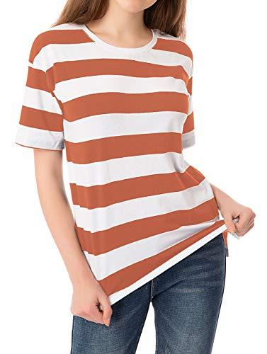 Striped T Shirt for Women Short Sleeve Crew Neck...