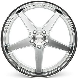 Ferrada Wheels FR3 22x9.5 et15 & 22x11 et20 5x115 Machine Silver/Chrome Lip/Charger Challenger Hellcat SRT8