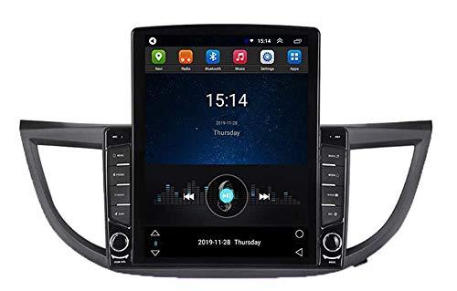 LYHY Android Car Stereo Radio Double DIN Sat Nav Compatible con Honda CRV 2012-2016 Navegación GPS Reproductor Multimedia con Pantalla táctil de 9 Pulgadas Receptor de Video con cámara Trasera