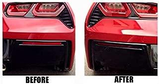 Eckler's Premier Quality Products 25-334330 - (C7) Corvette Lower Rear Bumper Reflector Blackout Vinyl Covers