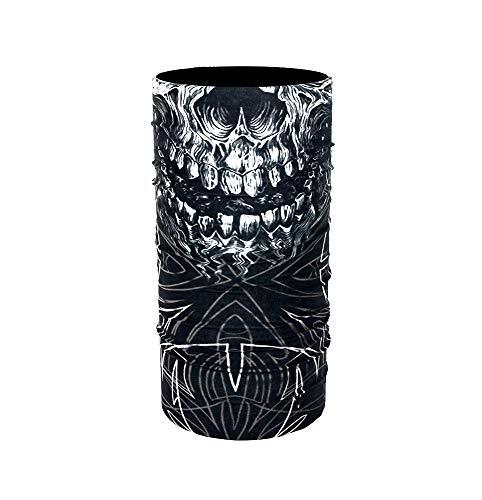 ZaPro Face Shields Halstuch/Windschutz Atmungsaktiv Sonnenschutz Elastisch / +40 Designs/Biker Herren Damen/Angeln Motorrad Ski Fahrrad Paintball (Ocult Skull)