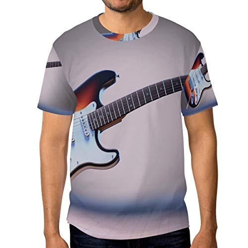 DEZIRO - Camiseta de Manga Corta para Hombre, diseño de Guitarra eléctrica...