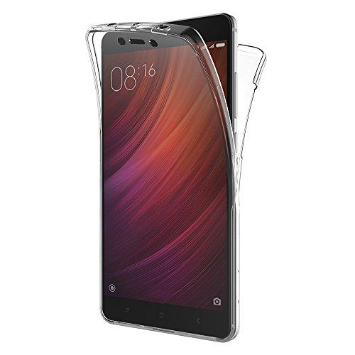AICEK Cover Xiaomi Redmi Note 4, 360°Full Body Cover Redmi Note 4 Silicone Case Molle di TPU Trasparente Sottile Custodia per Xiaomi Redmi Note 4 (5.5 Pollici)