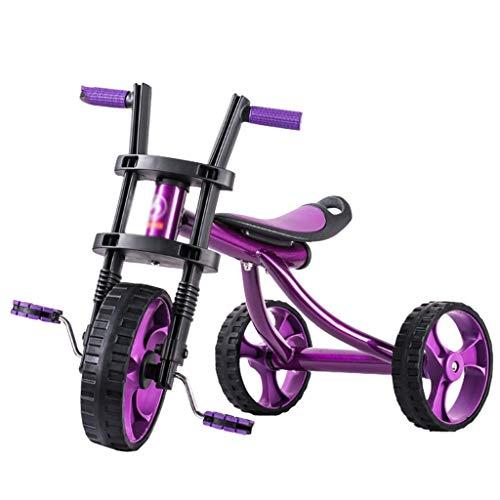 Biciclette Bici per Bambini Scooter Triciclo per Bambini Puzzle Walker Bilancia per Bambini Bimbi Regalo per Bambini Carico 25 kg (Color : Purple, Size : 57.5 * 25.5 * 38cm)