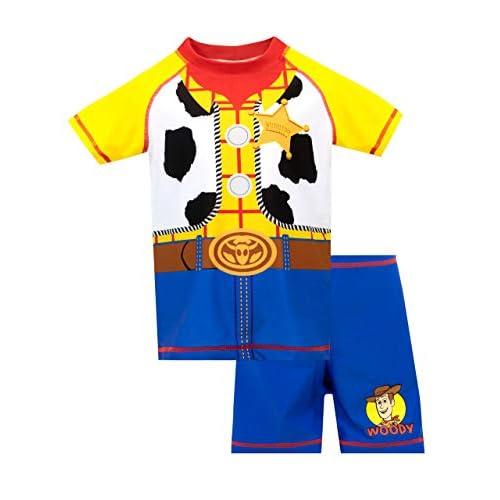 Disney Costume da Bagno per Ragazzi a Due Pezzi Toy Story Woody Multicolore 4-5 Anni