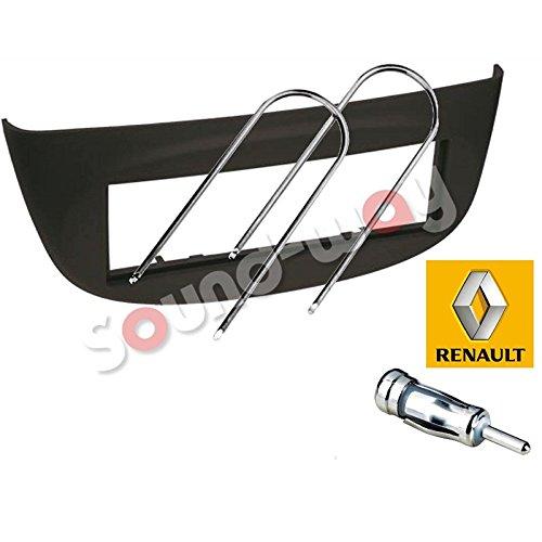 Sound-way 1 DIN Radiopaneel Frame Autoradio, Antenne Adapter, Demontage Sleutels ondersteuning voor Renault Twingo, Wind 2 II