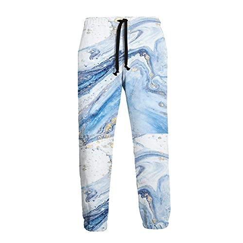 136 Pantalones de chándal de los hombres, Azul de mármol Joggers Pantalones de deporte de moda pantalones deportivos para los hombres para el ejercicio