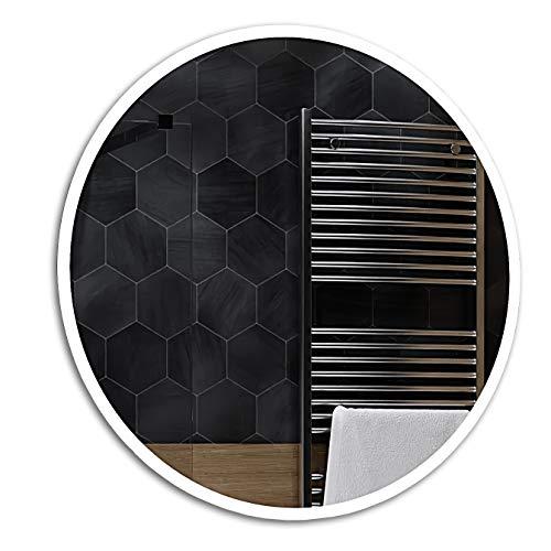 Specchio Rotondo A Muro Controluce LED | 80 cm | Delhi - Specchio per Il Trucco/Sistema Anti Appannante | Personalizza Specchio a Muro
