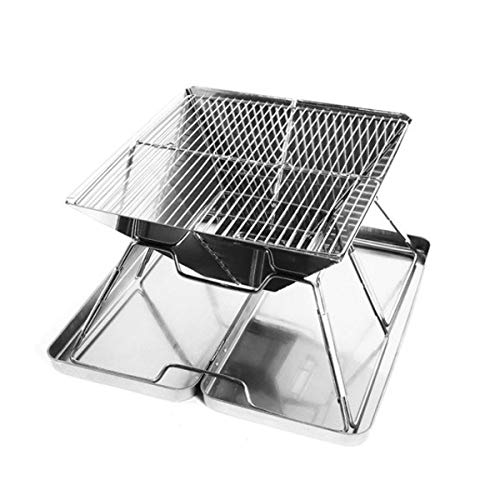 Best Prices! WSZZF311 Stainless BBQ Grill Rack Steel Outdoor Charcoal Folding BBQ Accessories Portab...