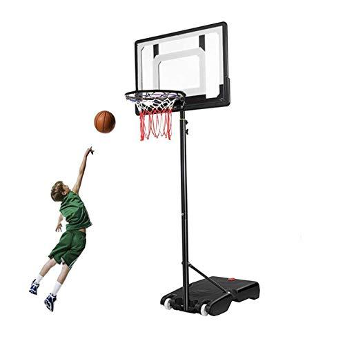 portátil Juego de Baloncesto, Canasta Baloncesto con Soporte y 2 Ruedas Soporte de Baloncesto Altura Ajustable Soporte de Baloncesto para niños para niños en Interiores al Aire Libre,White