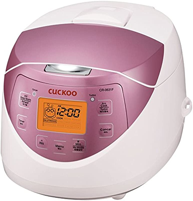 Cuckoo CR 0631F Rice Cooker 6 Cups Uncooked 3 Liters 3 2 Quarts Pink