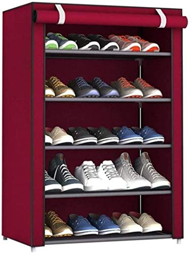 Ranuras de Zapato Ajustables Organizador Bastidore Zapato de Zapatos a Prueba de Polvo tamaño Grande Tela no Tejida Zapatos de Rack Zapatos Organizador Dormitorio Dormitorio Zapato bastidores Estante