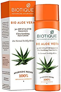Best biotique aloe vera sunscreen ultra soothing body lotion Reviews
